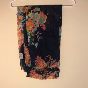 Blue floral scarf. Perfect for spring or fall.